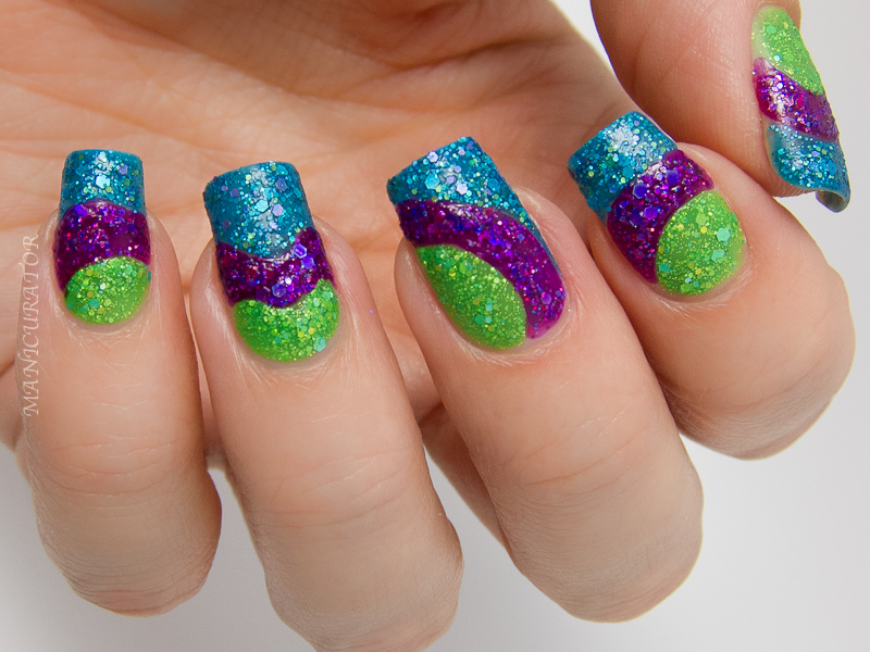 Manicurator Kbshimmer Early Summer 2014 Textures Freehand Nail Art