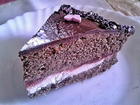 Corte tarta sueño de chocolate de Navidad