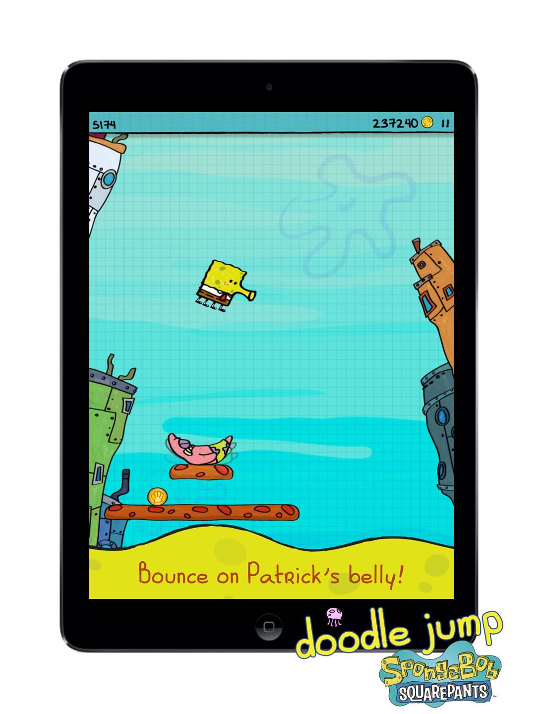 Dive Into Doodle Jump SpongeBob SquarePants App #SpongeBob