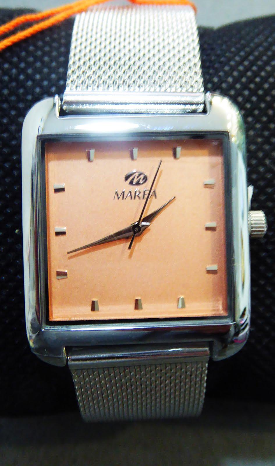 Reloj Marea señora, pulsera de acero esterilla