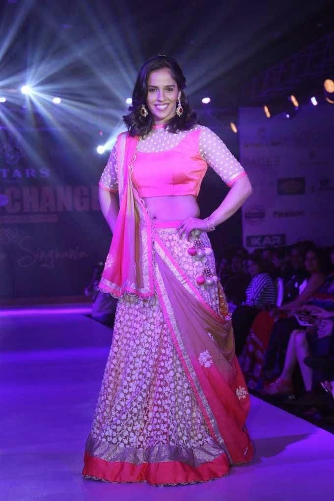 Saina Nehwal at Teach For Change Fashion Show
