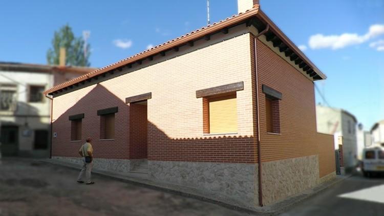 proyecto de vivienda unifamiliar con caldera de biomasa – fachada calle