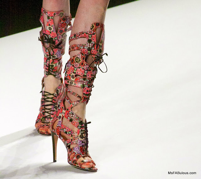 Stunning floral boots from Rebecca Minkoff Spring 2014
