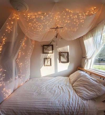 cheap romantic bedroom lighting decorating ideas with lighted garlands cheap bedroom lighting