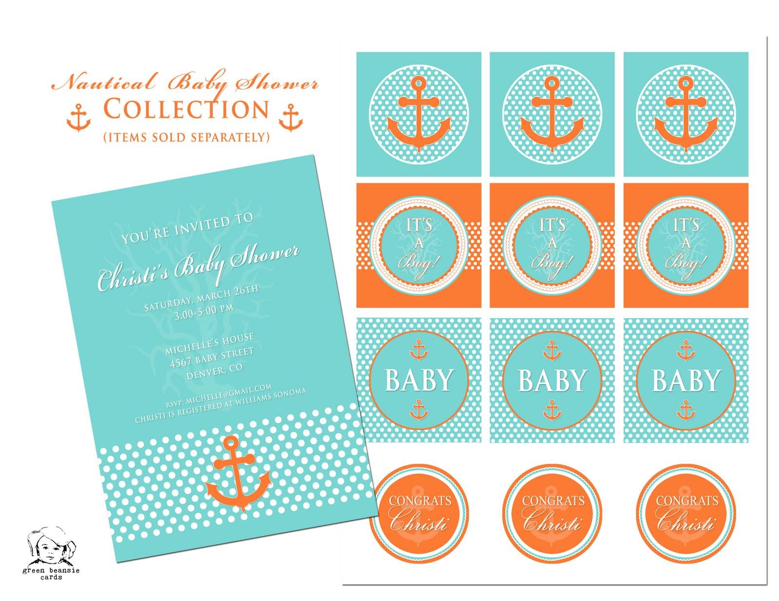 nautical baby shower invitations templates .
