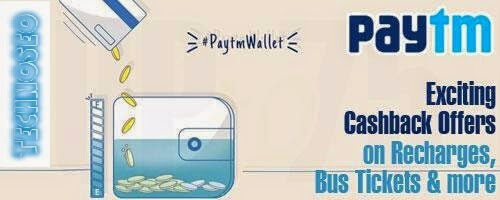 Paytm wallet Offers Today