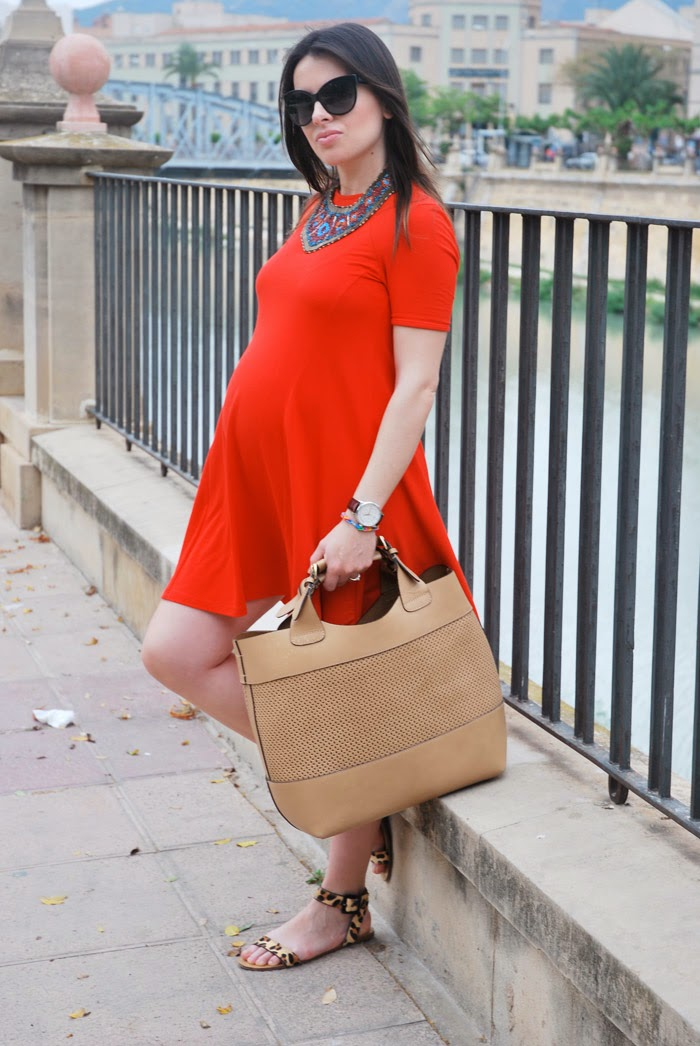 Orange Dress StreetStyle