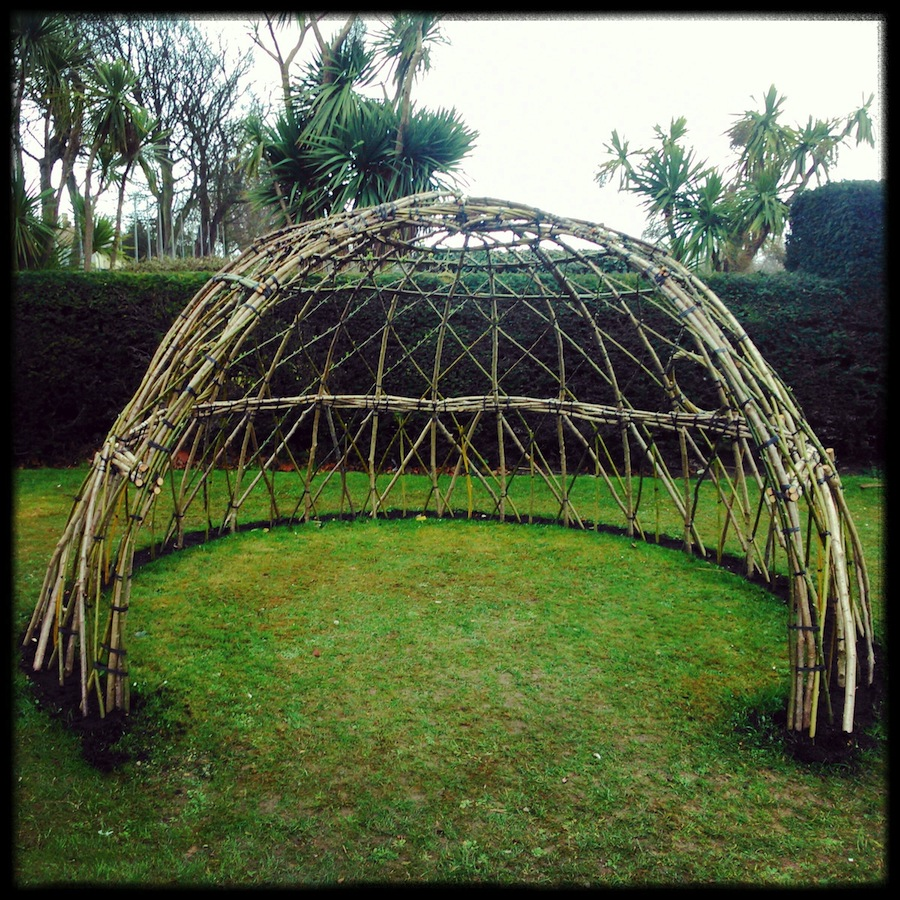 Beach House Park's Willow Dome, soaking up the drizzle