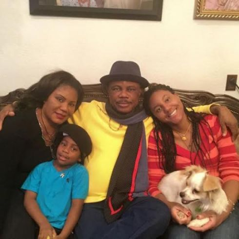 Governor Willie Obiano shows off his family