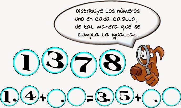 Reto matemático, Desafío matemático, Problema matemático, Decimales, Descubre el número, Problemas para pensar, Arma la operación