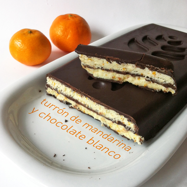 Biscayenne turr n de mandarina y chocolate blanco a la - Postre con mandarinas ...
