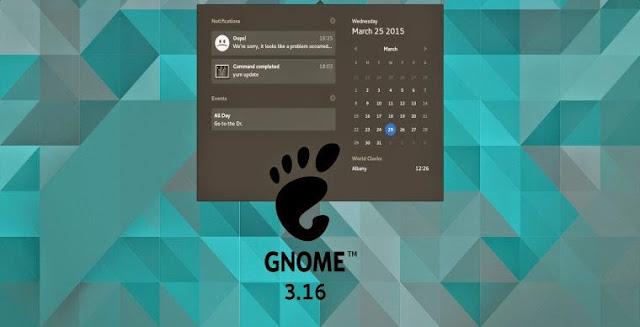 GNOME 3.16 di Ubuntu, Mint dan Arch Linux