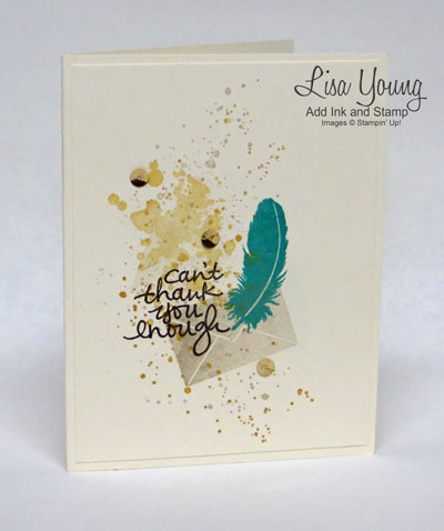 A Stampin' Up! card made with Lovely Amazing You stamp set. It is a clean and simple card made by Lisa Young, Add Ink and Stamp