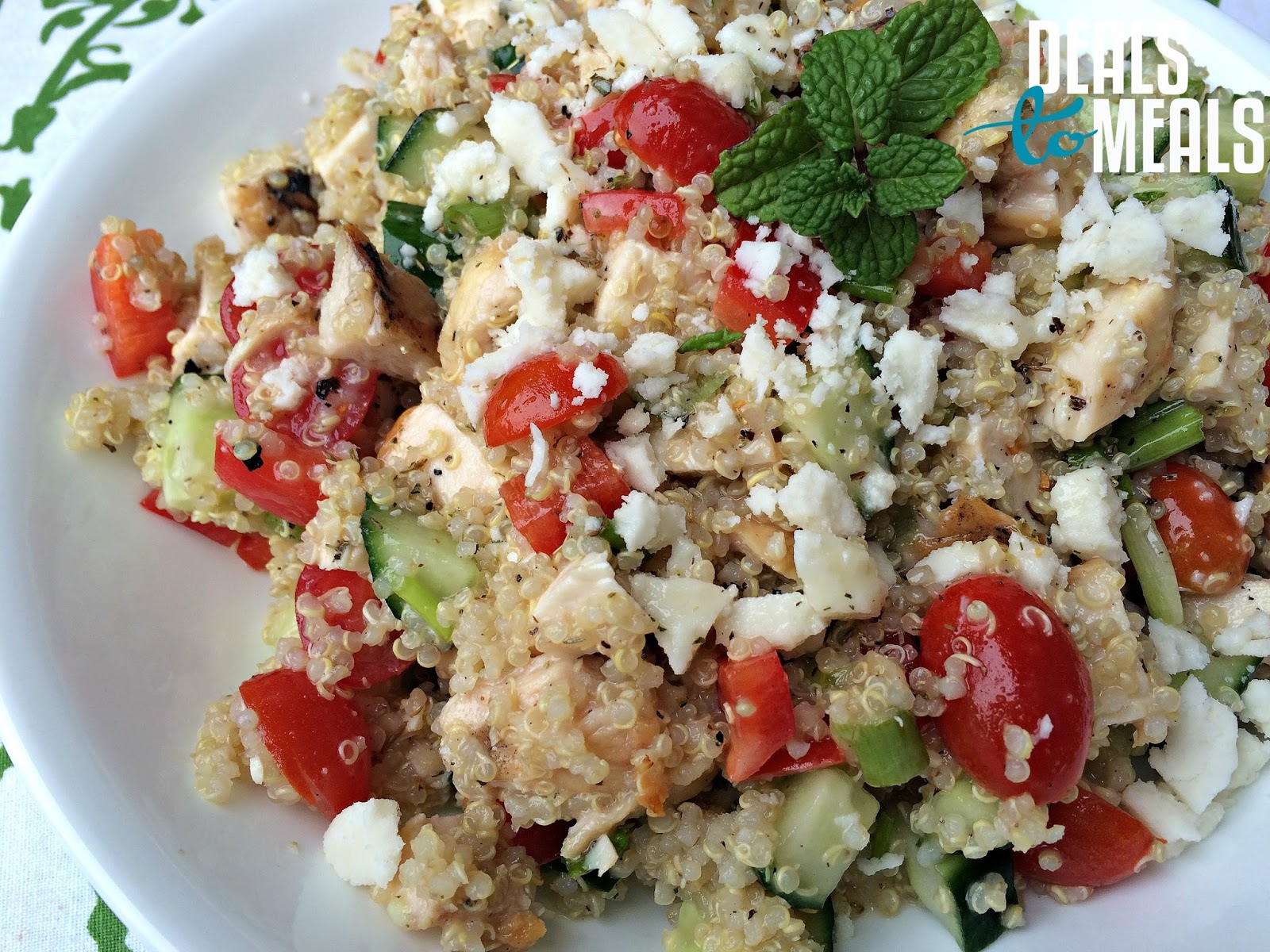 ... Recipe: Grains, Deals to Meals, Greek Quinoa Salad with Lemon Dressing