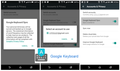 Google Released Google Keyboard v4.1 update : With New Emoji and new personal dictonary : Find Apk Here