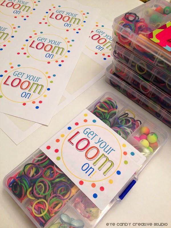 online labels, rainbow loom kits, labels for loom kits, loom bracelets