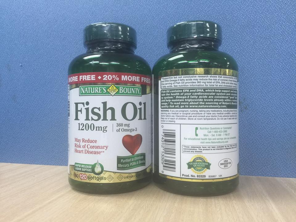 D u c nature s bounty fish oil 1 200 mg for Nature s bounty fish oil 1200 mg