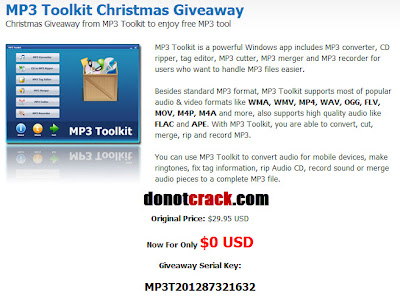 MP3 Toolkit Christmas Giveaway