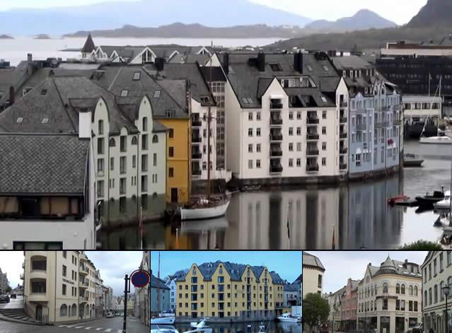 Passeando por Alesund - Noruega, Norway
