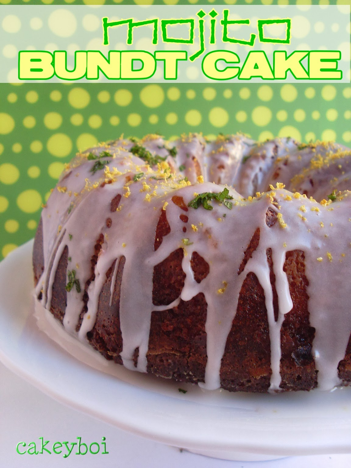 mojito bundt cake