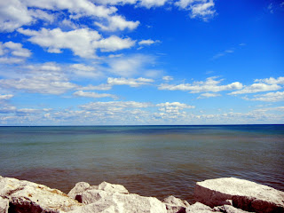 Lake Michigan views from downtown Milwaukee, Wisconsin