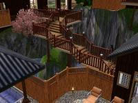 温泉までの渡り廊下