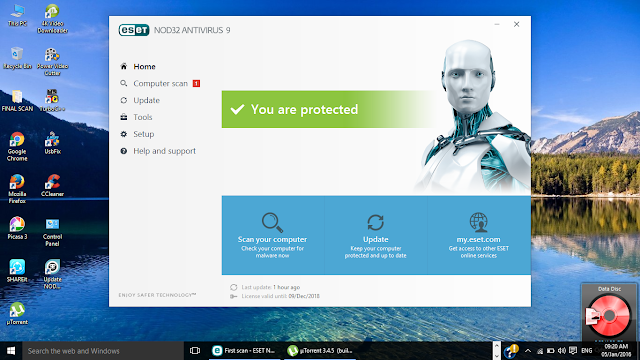 eset Antivirus lifetime protection until 2018....s now available with this license key.....Wow ...