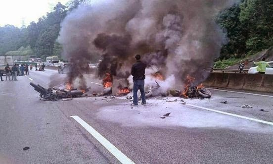 Dua Maut Dalam Kemalangan Tragis Di Lebuhraya Karak