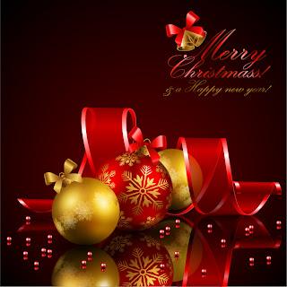 美しく輝くクリスマス ボールの背景 star studded christmas ball background イラスト素材5