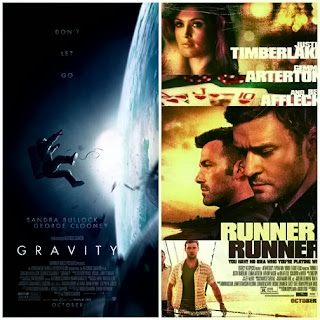 New movies Gravity and Runner Runner in theaters