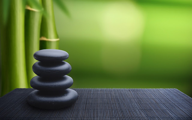 Bamboos and Spa Stones Minimal HD Wallpaper