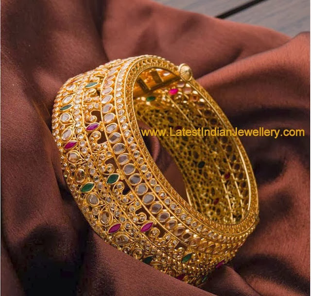Heavy Uncut Diamond Bangle
