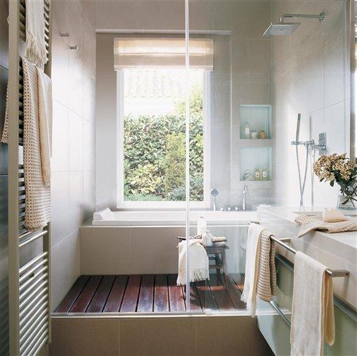 Decotips ducha y ba era en menos de 10 m virlova style for Cuartos de aseo con ducha