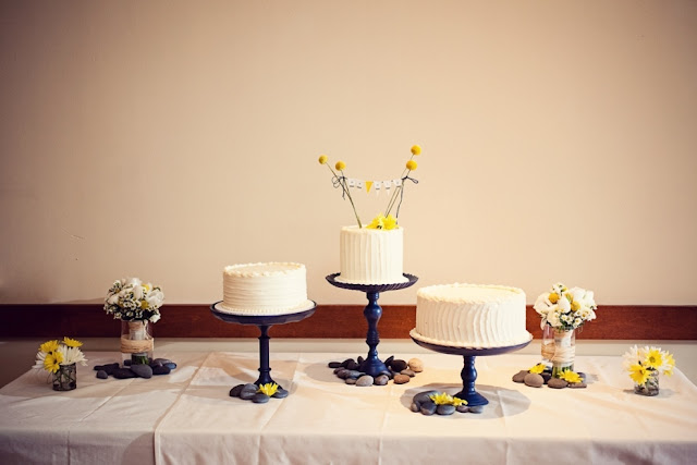 Cake Trio for Minneapolis Wedding