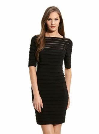 Black dress in lined design
