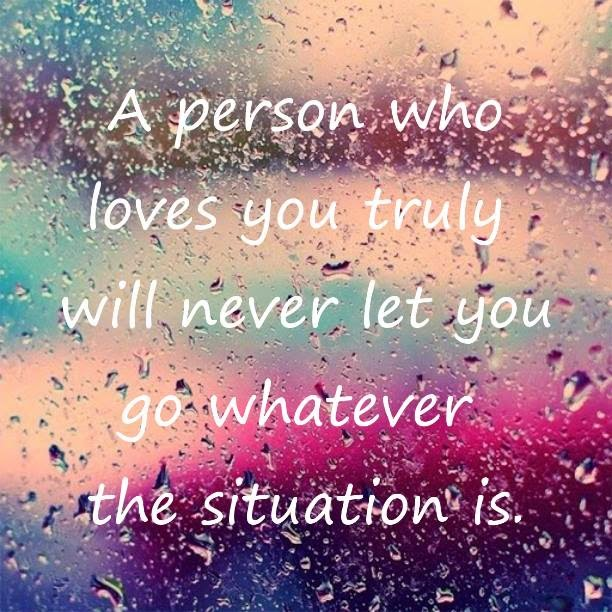 biz smash: LOVE QUOTE: True Love Will Never Let You Go