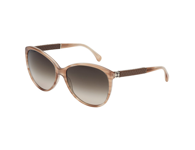 fe5ff3afdc0df0 Acetate sunglasses with quilted lambskin leather temples and chanel  signature