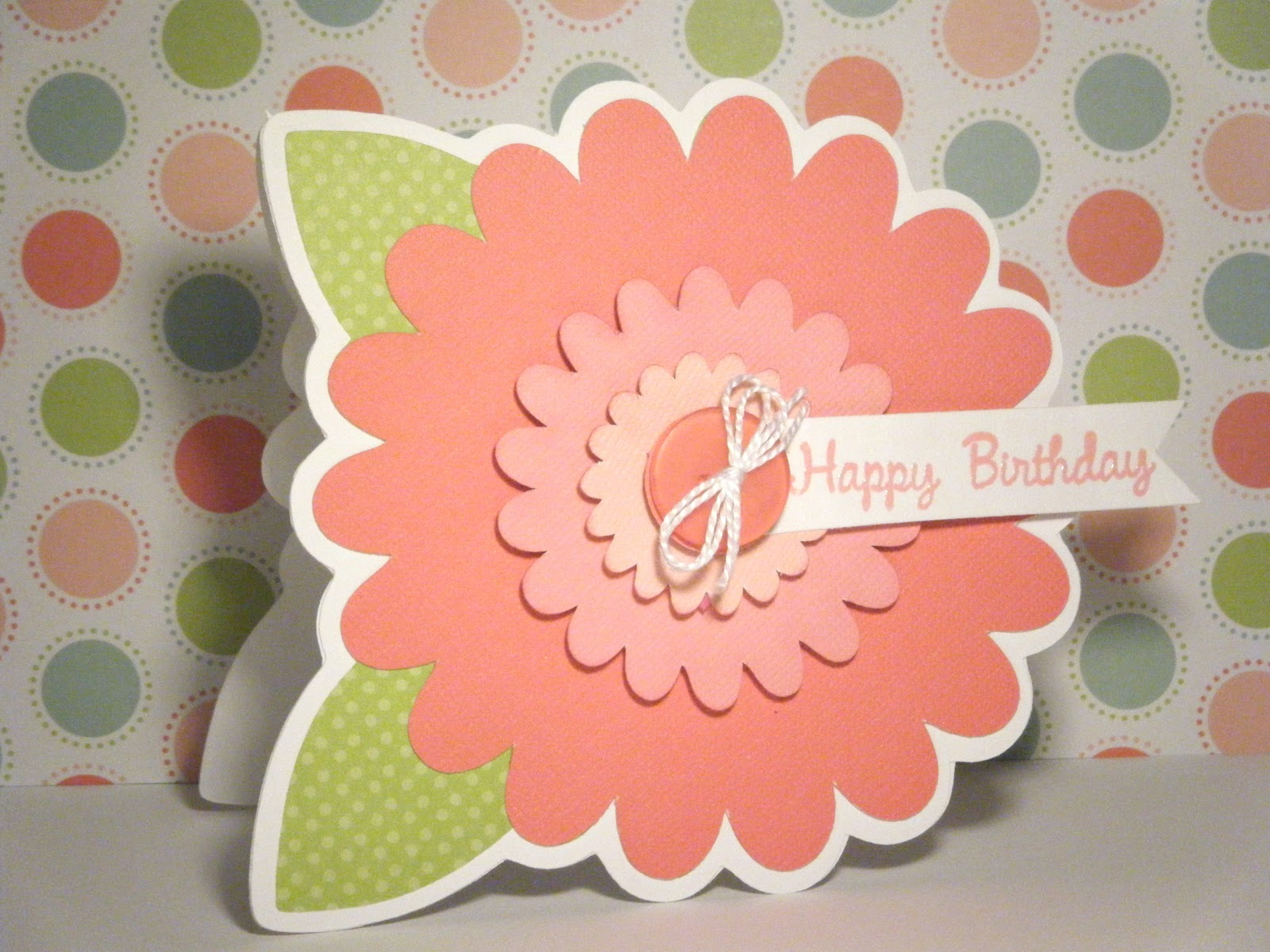 Pink and paper flower happy birthday cards flower happy birthday cards mightylinksfo