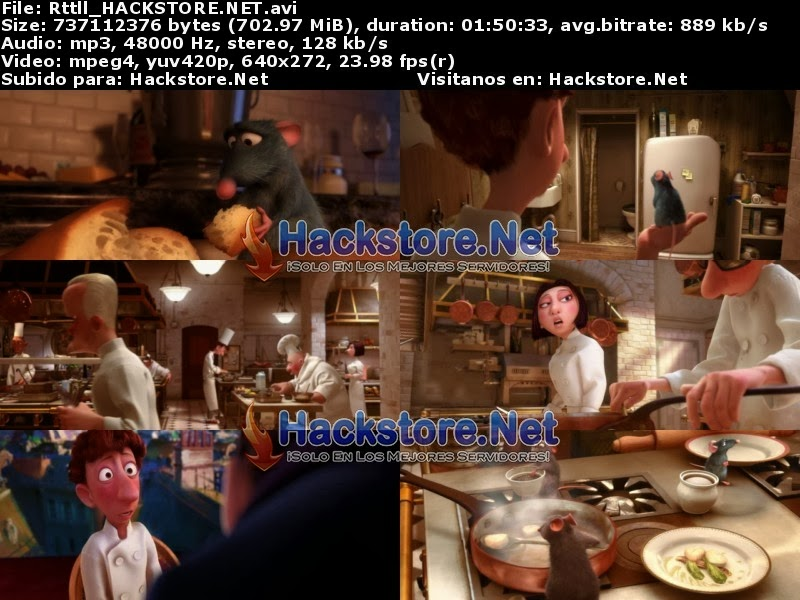 Captura Ratatouille (2007) DVDRip Latino