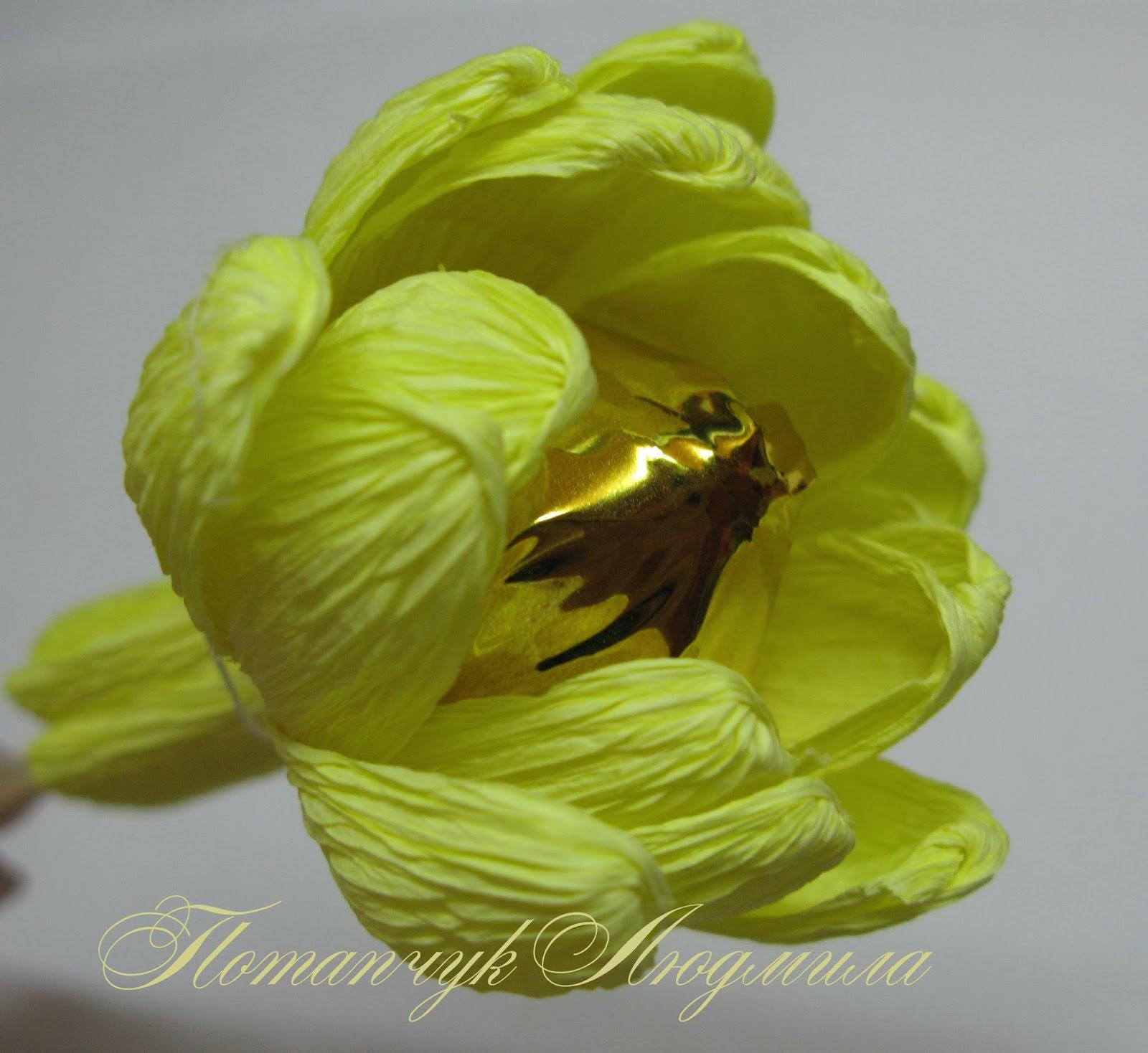 Хризантемы из конфет и гофрированной бумаги мастер класс