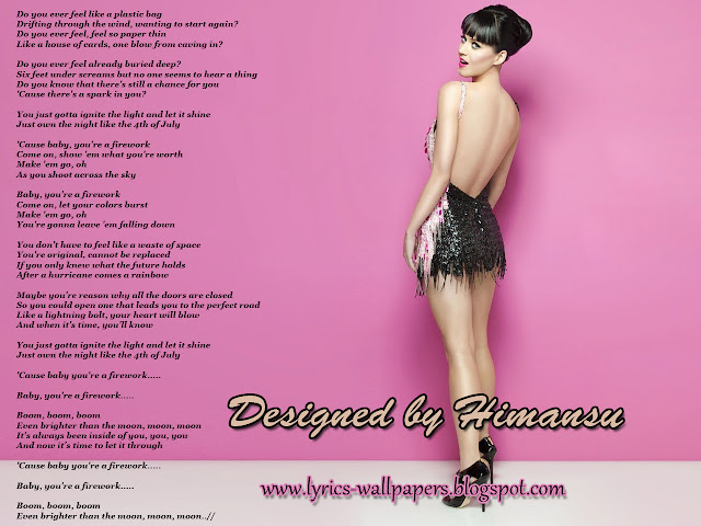 Lyrics Wallpapers: Katy Perry - Firework Paramore Song Quotes
