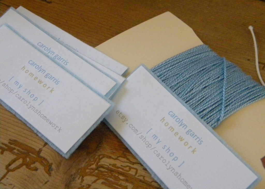 homework: a creative blog: Inkling: business cards