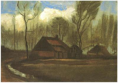 Farmhouse Among Trees de Vicent Van Gogh, Quinta, Quinta Isolada