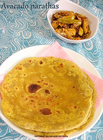 avacado parathas recipe
