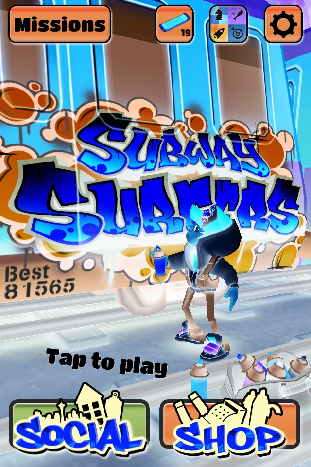 subway surfers ipad game photo
