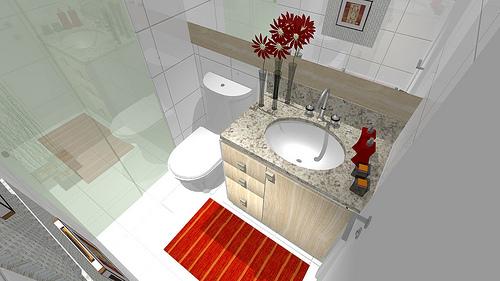 Ambientes & Ideias Banheiros -> Banheiro Decorado Com Reciclagem