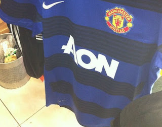 Manchester United new away jersey 2012