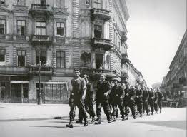 Polish Insurgents column - Warsaw Uprising 1944