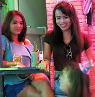 Nightlife girls at a Hua Hin bar