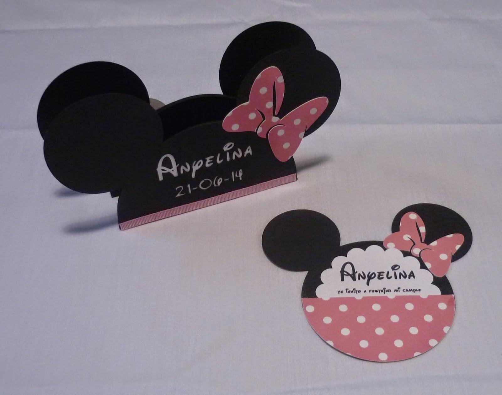Minimandy. Minnie Mouse. Servilleteros. Papel.